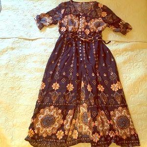 Dresses & Skirts - Sexy Bohemian Designed Button Down Dress